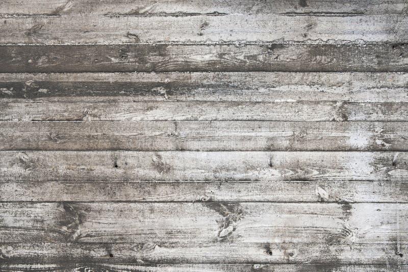 Vieille texture en bois blanche sale de fond de planches image libre de droits