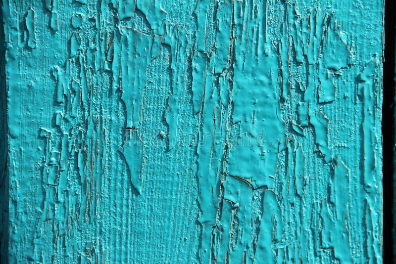 Vieille texture en bois de fond naturel, bleu peint inégal, peinture d'épluchage de turquoise images stock