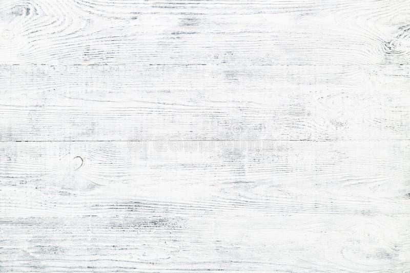 Vieille texture en bois de planche avec des fissures et des éraflures blanches et grises photographie stock libre de droits