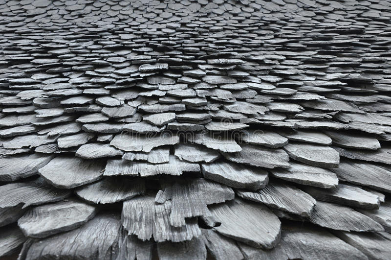 Vieille texture en bois de toit photos libres de droits