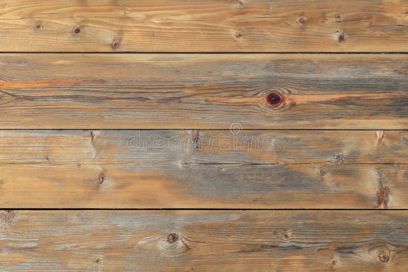 Vieille texture en bois, fond naturel en bois de pin avec des noeuds Papier peint en bois âgé naturel de texture photos libres de droits