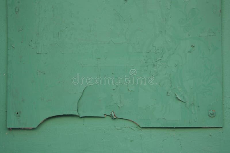 Vieille texture en bois, fond vert, panneau, table avec la réparation photographie stock libre de droits