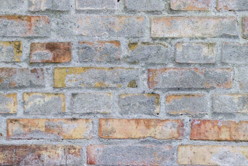 Vieille texture plâtrée de mur de briques images stock