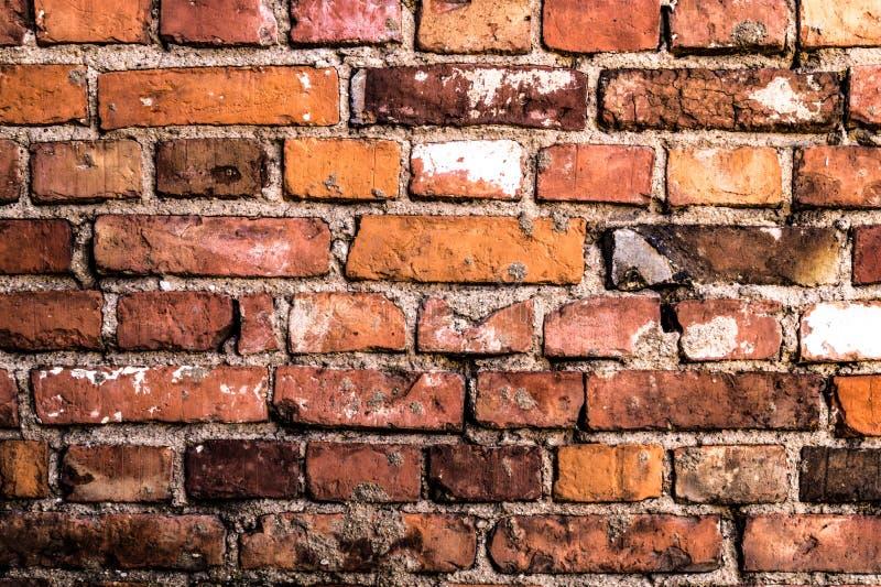 Vieille texture rouge détaillée de fond de mur de briques photo libre de droits
