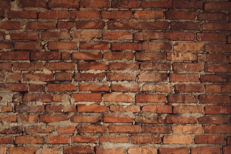 Vieille texture rouge de fond de mur de briques Rétro modèle avec le vieux mur de briques rouge Fond grunge Texture de l'espace R image stock