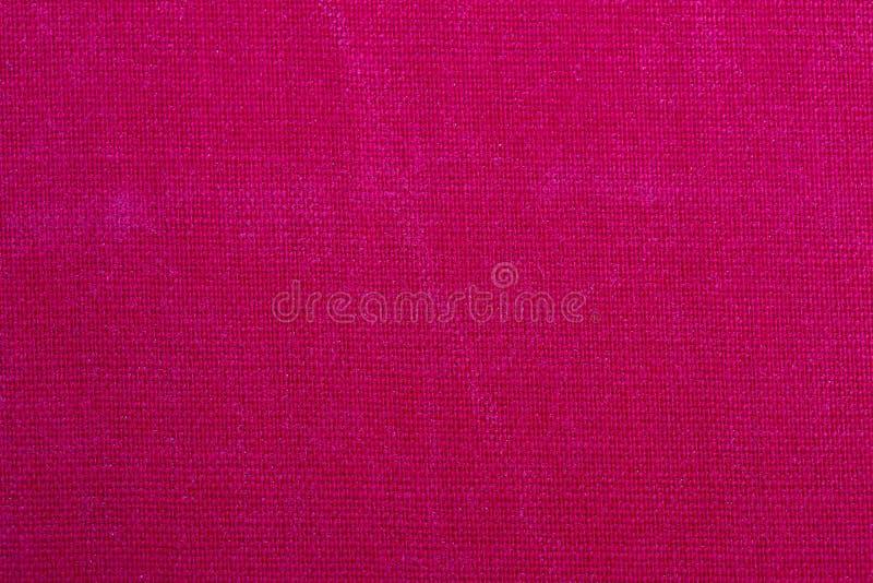 Vieille texture sale de tissu couverture de livre, fond rouge images stock