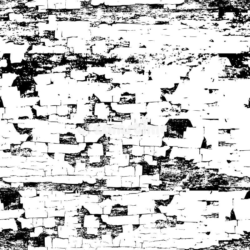 Vieille texture sans couture en bois peinte de vecteur Noir grunge abstrait illustration libre de droits