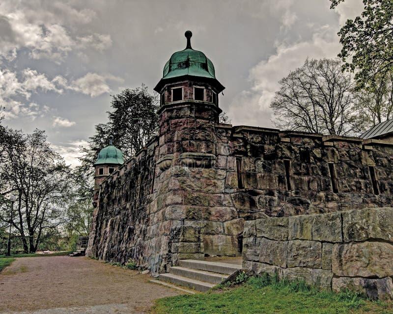 Vieille tour d'eau, Suède dans HDR photo stock