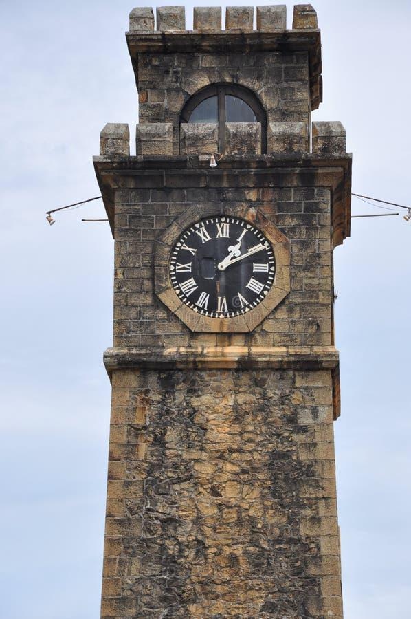 Vieille tour d'horloge au fort néerlandais de Galle, Sri Lanka photos libres de droits
