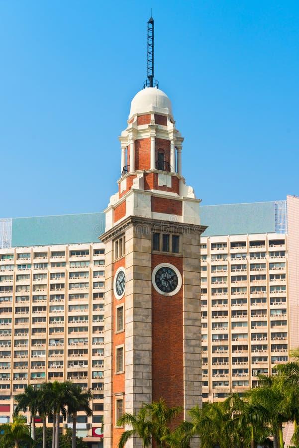 Vieille tour d'horloge, avec son architecture classique sur Kowloon, chéri photos stock