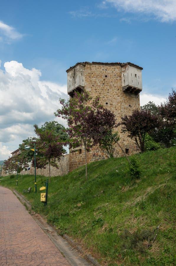 Vieille tour de forteresse de ville de Novi Pazar photo libre de droits