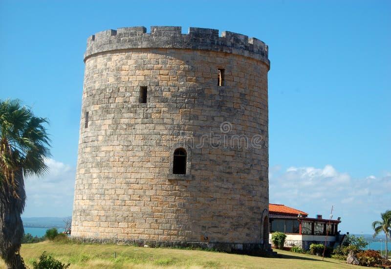 Vieille tour espagnole de surveillance de château photos libres de droits