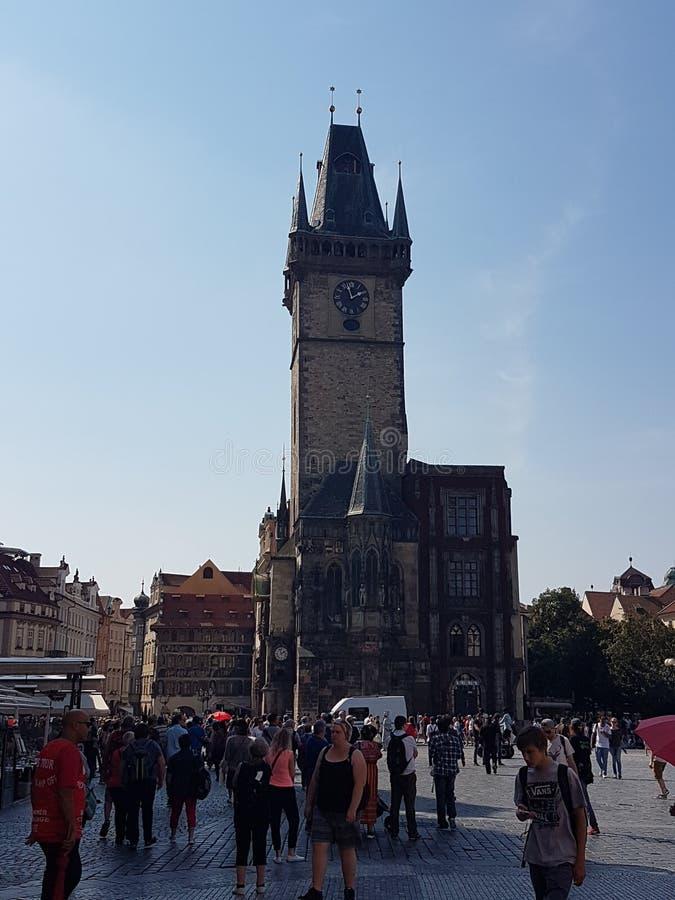 Vieille tour l'Europe de ville de Prague image stock