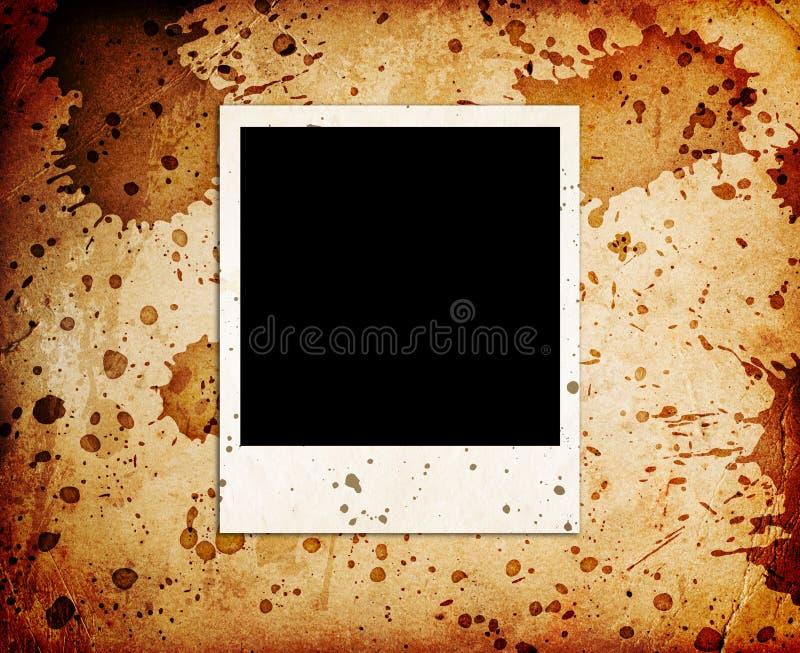 Vieille trame de photo photo stock