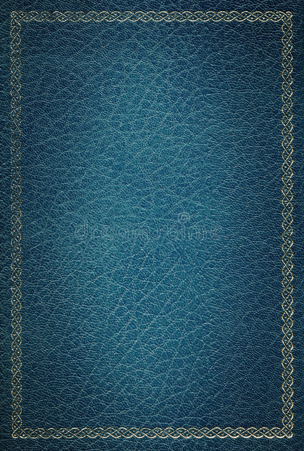 Vieille trame en cuir bleue d'or de texture images stock