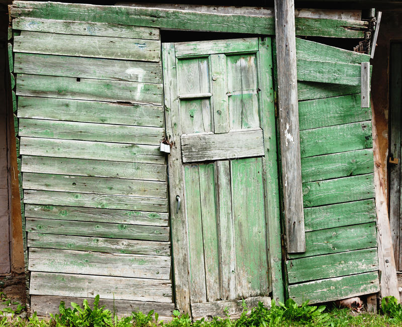 Vieille trappe de grange en bois image libre de droits