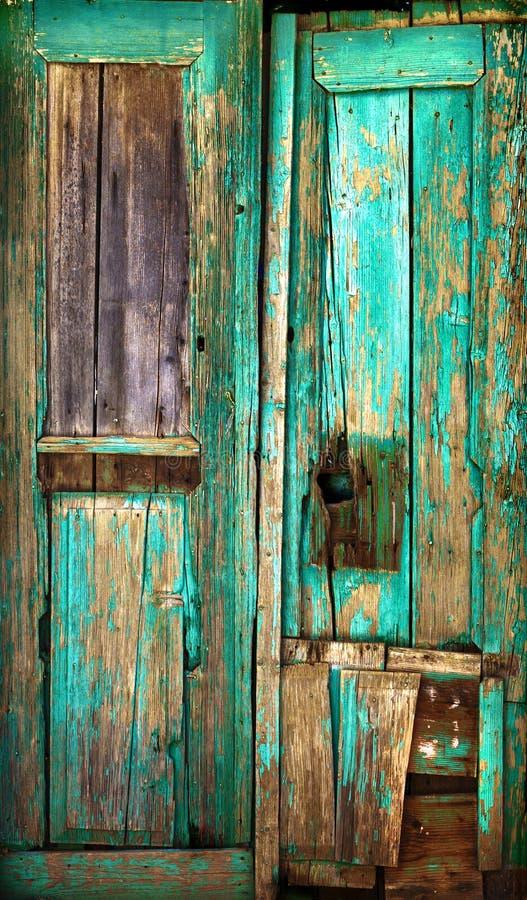 Vieille trappe en bois. image libre de droits