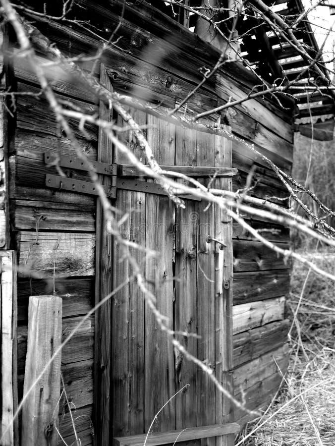 Vieille trappe en bois photos stock