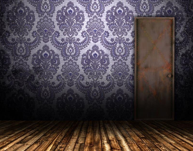 Vieille trappe intérieure illustration libre de droits
