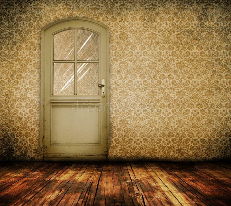 Vieille trappe intérieure illustration stock