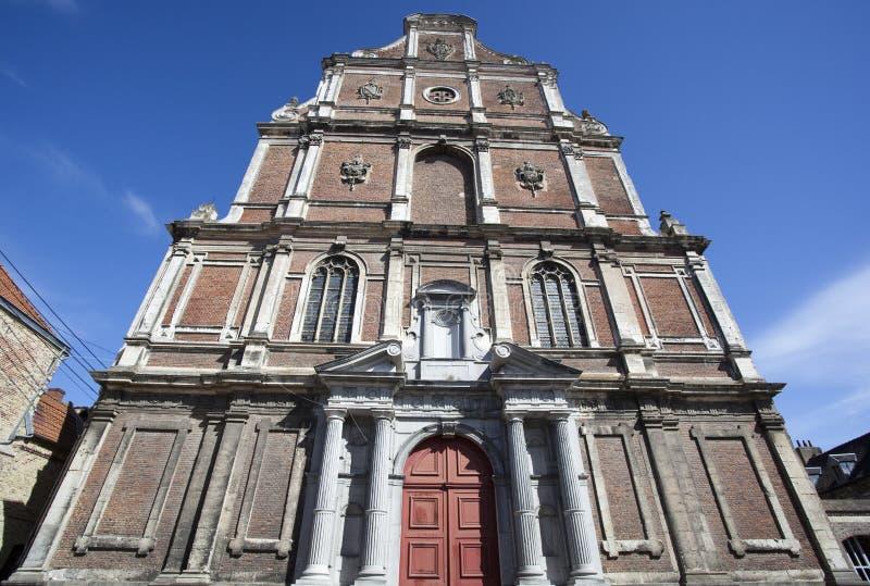 Vieille université de jésuite de saint Omer, France photos stock