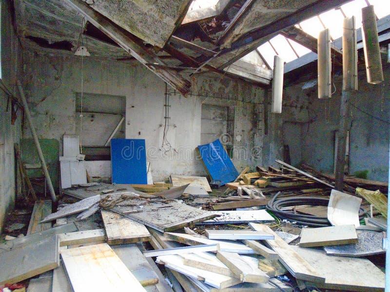 Vieille usine abandonnée des périodes communistes image libre de droits