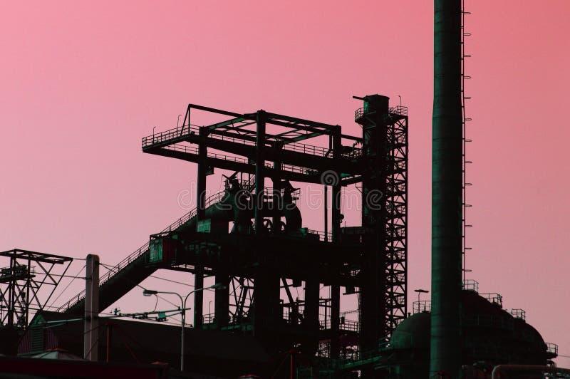 Vieille usine en acier photographie stock libre de droits