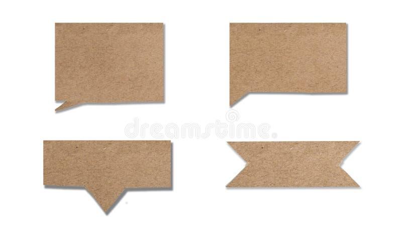 Vieille utilisation de papier comme bannière ou zone de texte de label image libre de droits