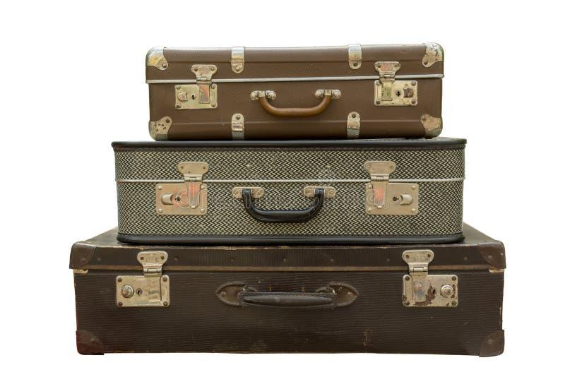Vieille valise de course photographie stock libre de droits