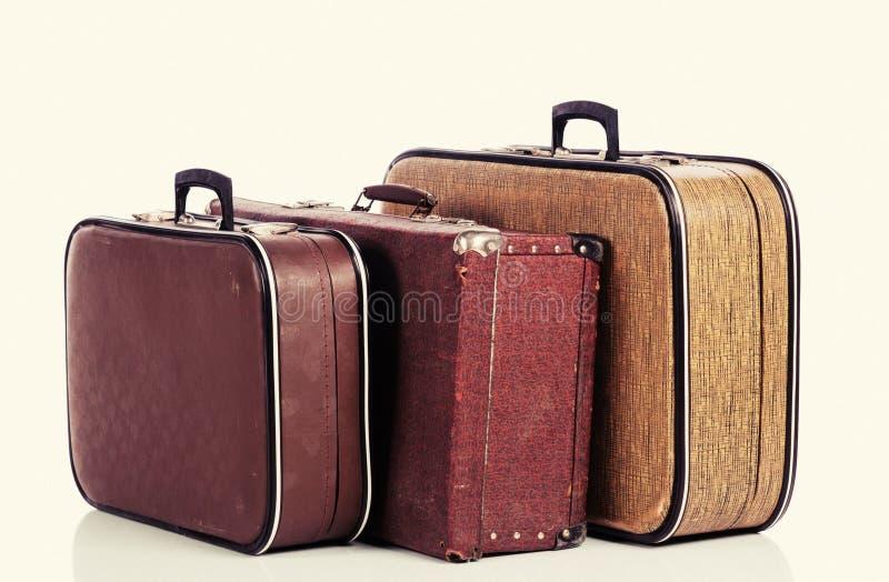 Vieille valise de cru photo libre de droits
