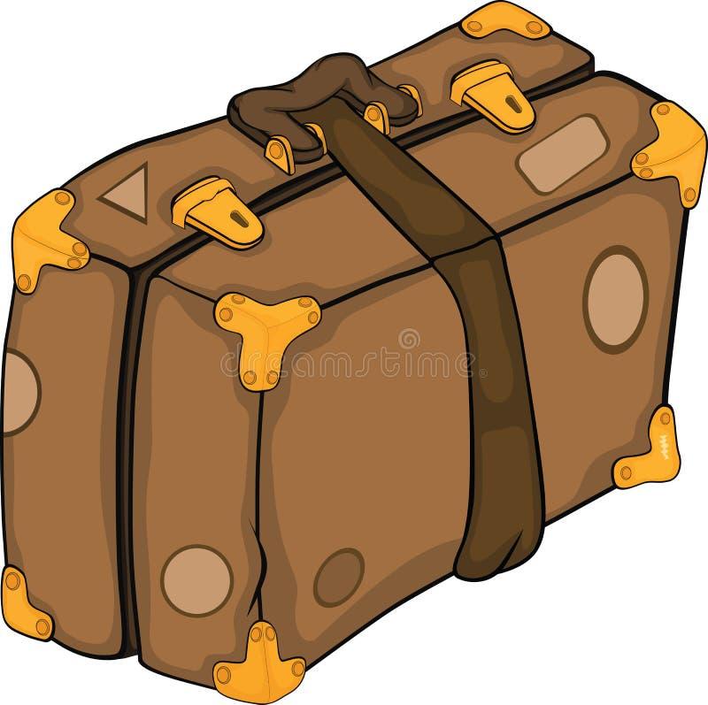 Vieille valise dessin anim illustration de vecteur - Dessin de valise ...