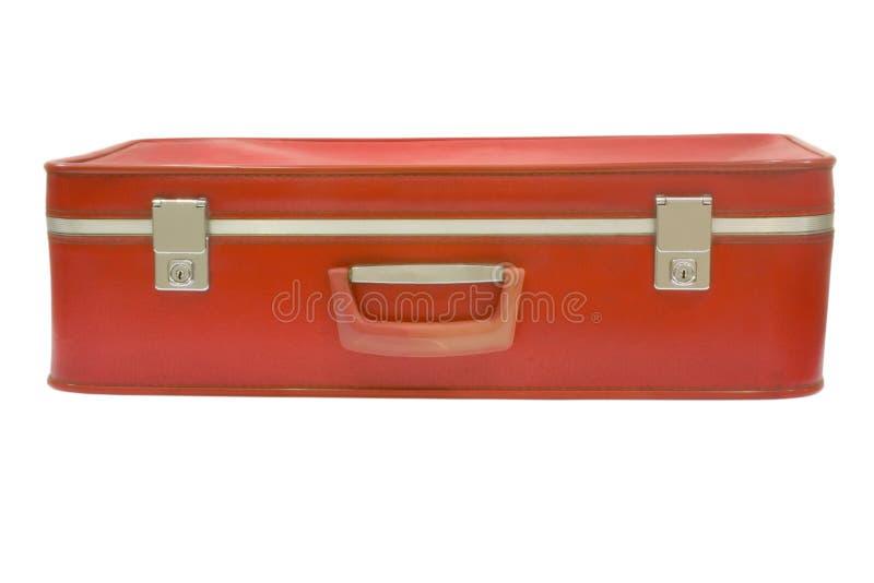Vieille valise rouge image libre de droits