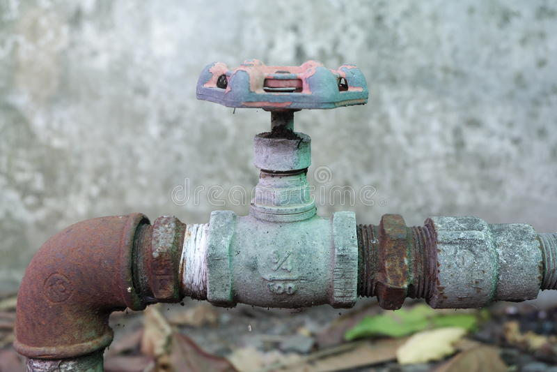 Vieille valve délabrée image libre de droits