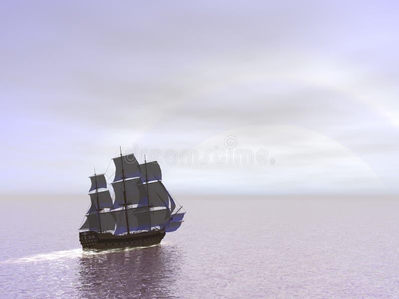 Vieille victoire du bateau HSM - 3D rendent illustration stock