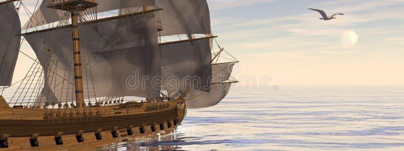 Vieille victoire du bateau HSM - 3D rendent illustration de vecteur