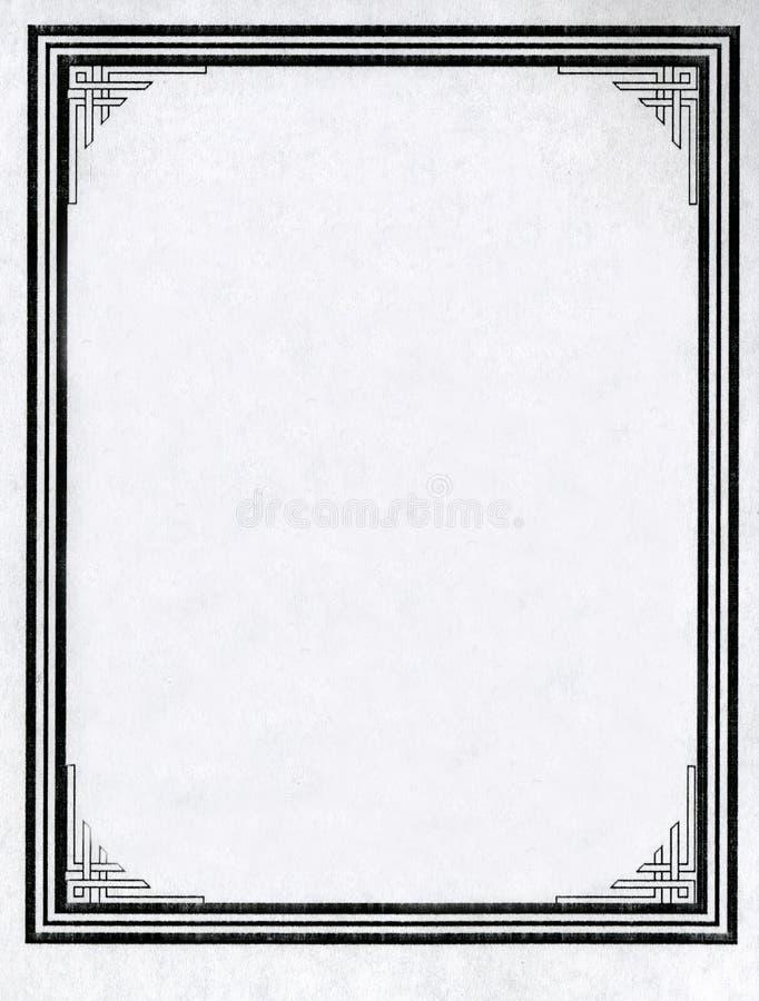 Vieille vignette sale âgée de page de feuille de papier de livre, l'espace d'isolement de copie de fond de cadre image stock