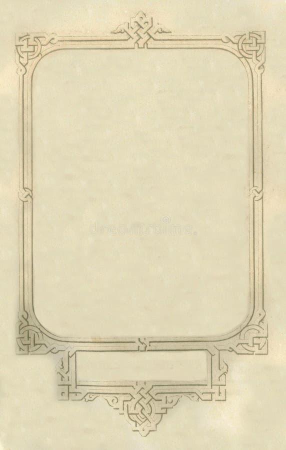 Vieille vignette sale âgée de page de feuille de papier de livre, l'espace d'isolement de copie de fond de cadre photos stock