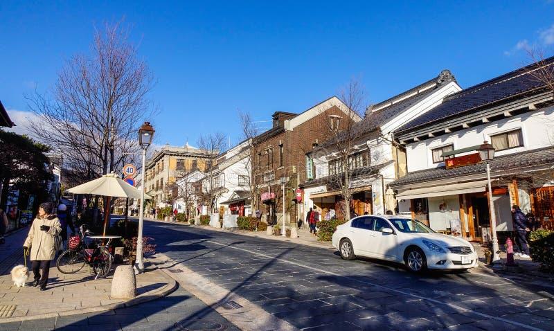 Vieille ville à Nagano, Japon photos libres de droits