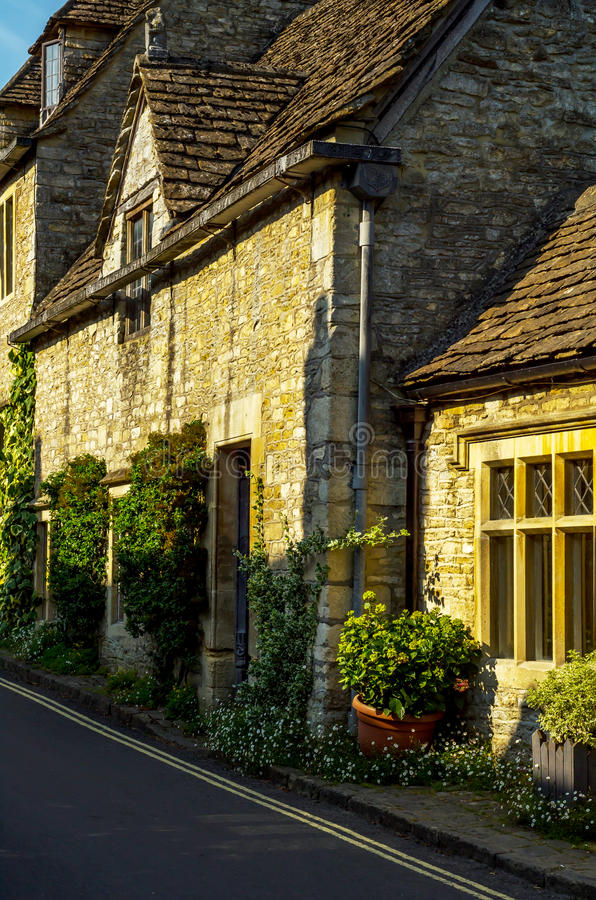 Vieille ville anglaise et beaux bâtiments historiques, vieille rue, h image libre de droits