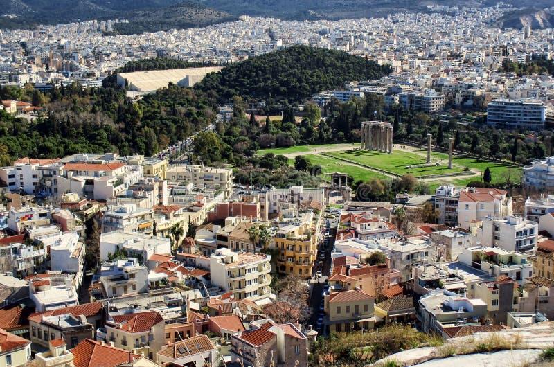 Vieille ville Athéna images libres de droits