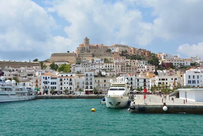 Vieille ville d'Ibiza photo stock