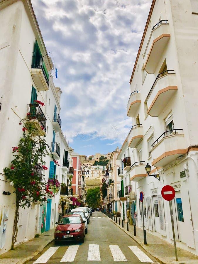 Vieille ville d'Ibiza photos libres de droits