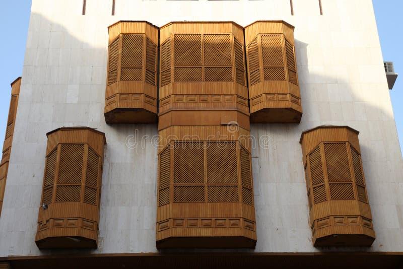 Vieille ville dans Jeddah, Arabie Saoudite connue sous le nom de ` historique de Jeddah de ` Bâtiments et routes vieux et d'hérit image stock