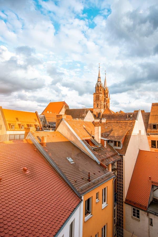 Vieille ville dans la ville de Nurnberg, Allemagne images stock