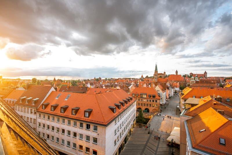 Vieille ville dans la ville de Nurnberg, Allemagne photographie stock