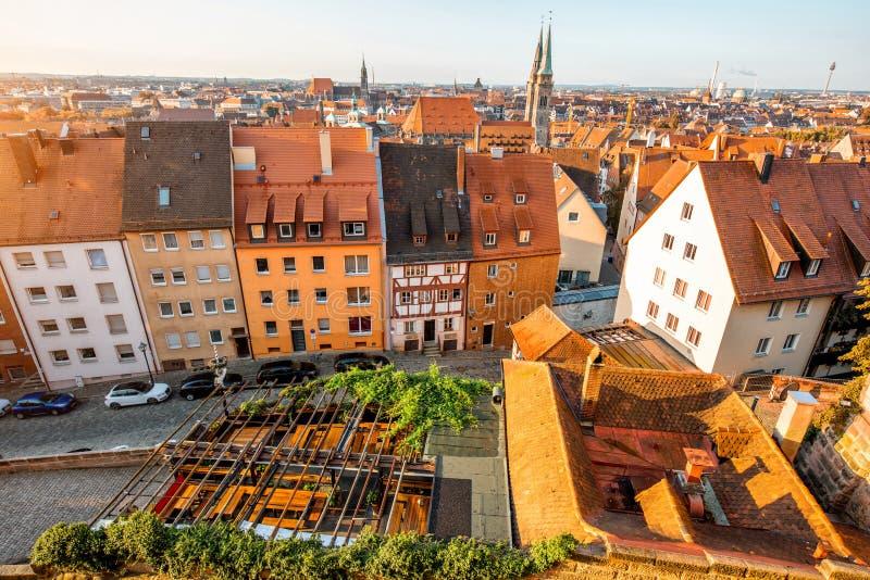 Vieille ville dans la ville de Nurnberg, Allemagne photos libres de droits