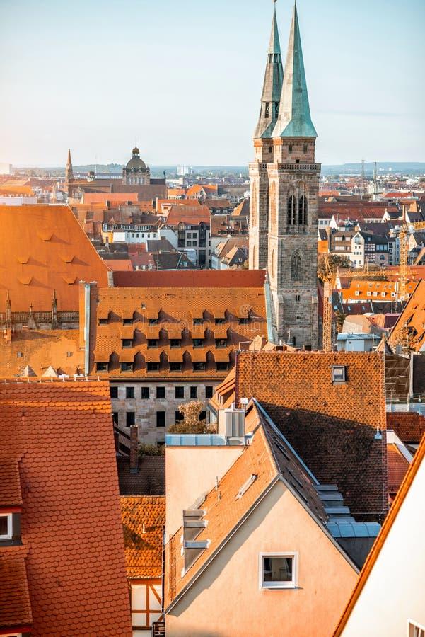 Vieille ville dans la ville de Nurnberg, Allemagne photos stock