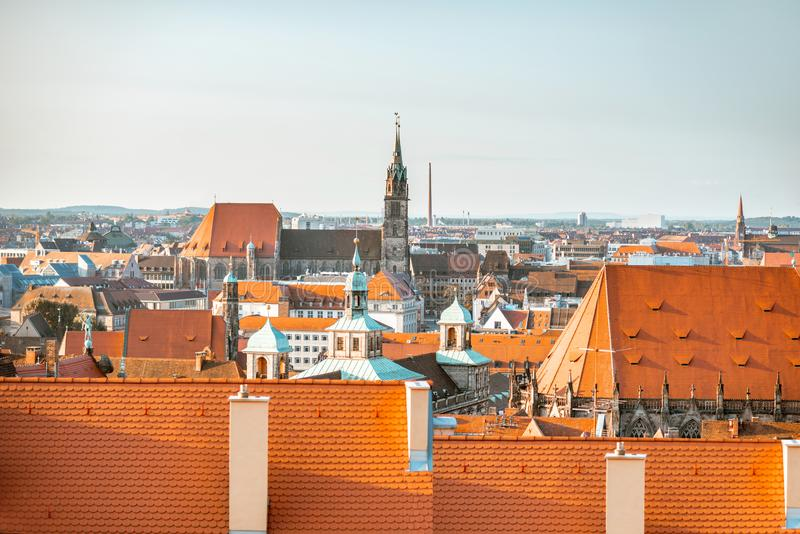 Vieille ville dans la ville de Nurnberg, Allemagne photo libre de droits