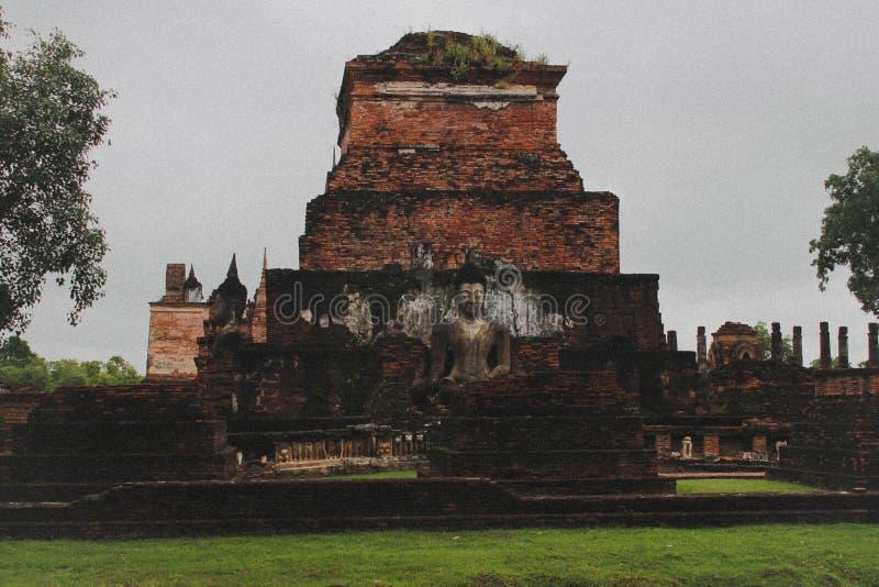 Vieille ville dans la province de Sukhothai images libres de droits