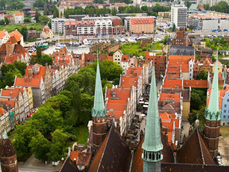 Vieille ville, Danzig images libres de droits